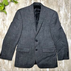 {Calvin Klein} Slim Fit Sharkskin Wool Blazer